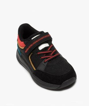 Baskets garçon colorées à lacets élastiques et scratch vue5 - GEMO (ENFANT) - GEMO