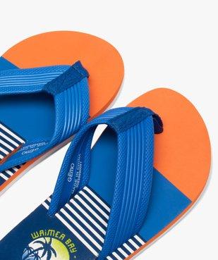 Tongs garçon imprimées surf à entre-doigts en toile vue3 - Nikesneakers (ENFANT) - Nikesneakers