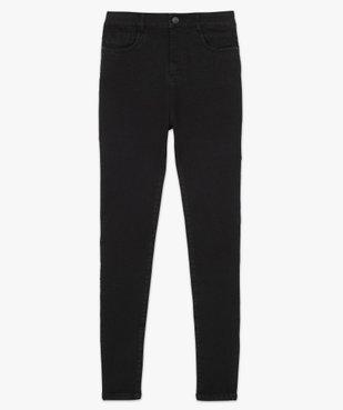 Pantalon femme en toile extensible coupe slim taille haute vue4 - GEMO (JEAN) - GEMO
