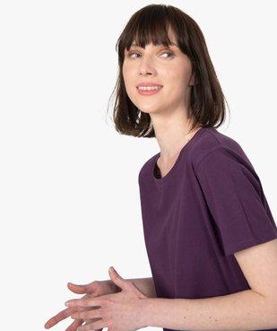 Tee-shirt femme à manches courtes avec dos plus long vue2 - GEMO(FEMME PAP) - GEMO