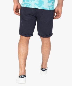 Bermuda homme en coton coloris unique vue3 - Nikesneakers (HOMME) - Nikesneakers