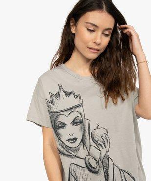 Tee-shirt femme avec motif femme - Disney vue2 - DISNEY DTR - GEMO