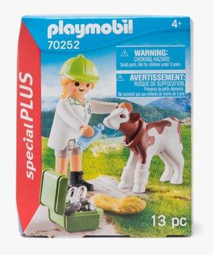 Jouet enfant vétérinaire et veau - Playmobil (13 pièces) vue1 - DIVERS LICENCE - GEMO