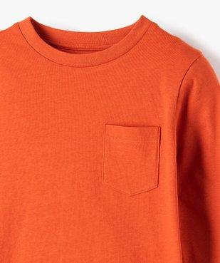 Tee-shirt garçon manches longues à poche poitrine vue2 - Nikesneakers C4G GARCON - Nikesneakers