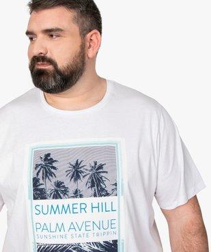 Tee-shirt homme à manches courtes avec motifs palmiers vue2 - GEMO (HOMME) - GEMO
