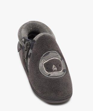 Chaussons bébé garçon semi-montants zippés - Isotoner vue5 - ISOTONER - GEMO