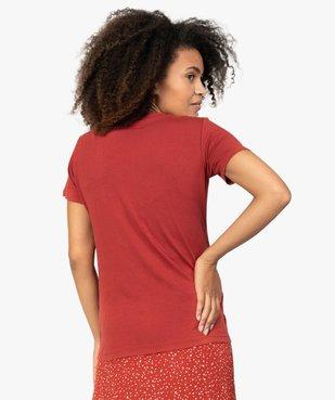 Tee-shirt de grossesse avec inscription vue3 - GEMO (MATER) - GEMO
