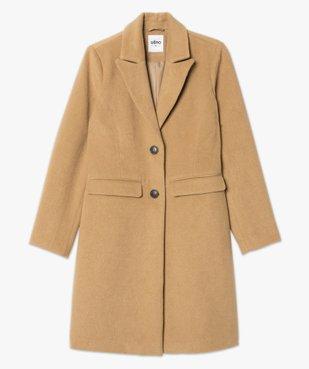 Manteau femme mi-long à col tailleur vue4 - GEMO(FEMME PAP) - GEMO