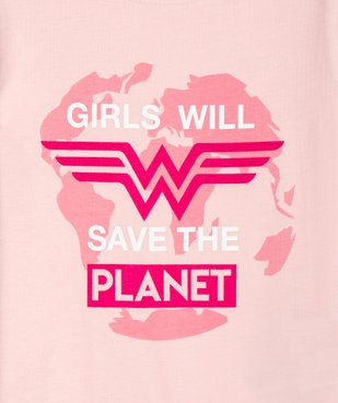 Tee-shirt fille avec motif multicolore – Wonder Woman vue2 - DC COMICS - Nikesneakers