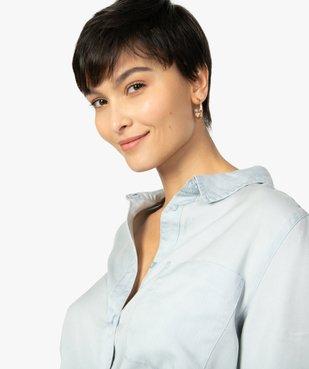 Chemise femme en Lyocell avec large poche poitrine vue2 - GEMO C4G FEMME - GEMO