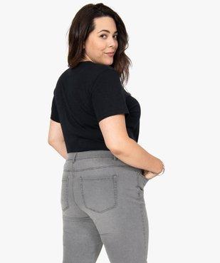 Tee-shirt femme avec inscriptions et paillettes vue3 - GEMO (G TAILLE) - GEMO