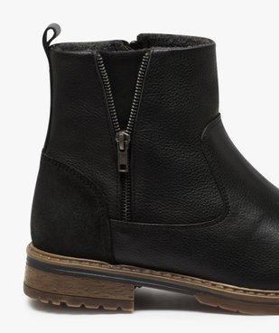 Boots homme zippés dessus cuir et doublure chaude vue6 - Nikesneakers (CASUAL) - Nikesneakers