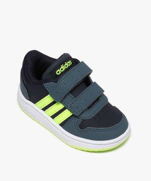 Baskets bébé garçon avec bandes fluo – Adidas Hoop 2.0 vue5 - ADIDAS - GEMO
