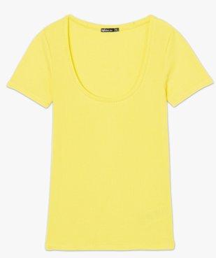 Tee-shirt femme ajusté en maille côtelée vue4 - FOLLOW ME - GEMO