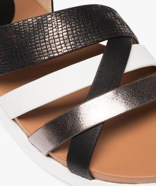 Sandales fille à brides croisées et détails métallisés vue6 - GEMO (ENFANT) - GEMO