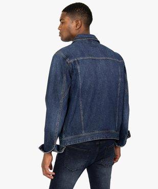 Blouson homme en jean coupe droite vue4 - GEMO (HOMME) - GEMO