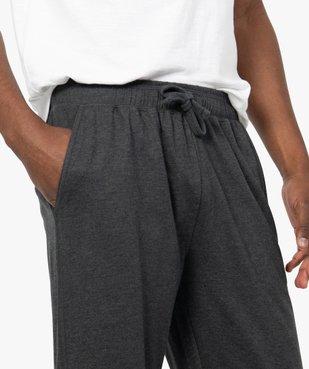 Pantalon de pyjama homme en jersey à taille élastique vue2 - GEMO(HOMWR HOM) - GEMO