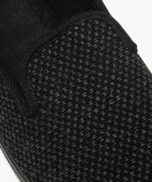 Pantoufles homme style charentaises dessus maille piquée vue6 - GEMO C4G HOMME - GEMO