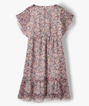 Robe fille à manches courtes en voile à motifs fleuris vue3 - GEMO (ENFANT) - GEMO
