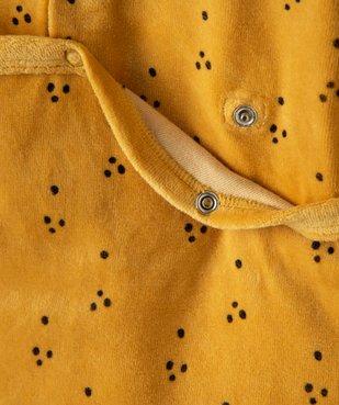 Pyjama dors-bien bébé garçon en velours avec motifs lions vue3 - GEMO(BB COUCHE) - GEMO
