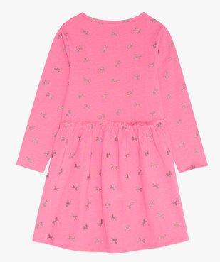 Robe fille en maille imprimée à manches longues motif licornes paillletées vue2 - GEMO (ENFANT) - GEMO