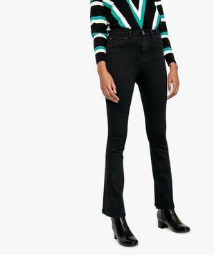 Jean femme extensible coupe Skinny flare vue1 - FOLLOW ME - GEMO
