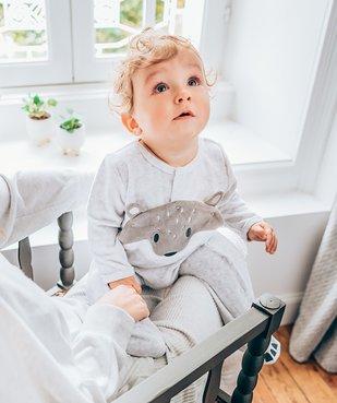 Pyjama bébé en velours motif renard vue7 - GEMO(BEBE DEBT) - GEMO