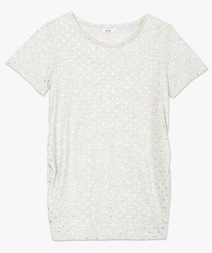 Tee-shirt de grossesse à plumetis brillants vue4 - GEMO (MATER) - GEMO