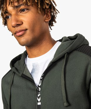 Sweat homme zippé avec empiècements épaules - Kwell by Soprano vue2 - KWELL - GEMO