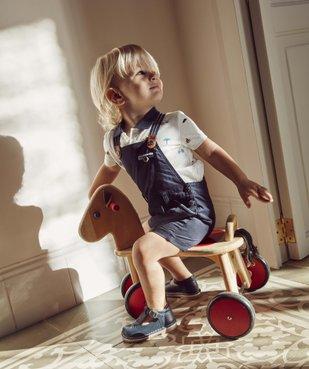 Chaussures bébé garçon ouvertes dessus et intérieur cuir vue6 - GEMO(BEBE DEBT) - GEMO