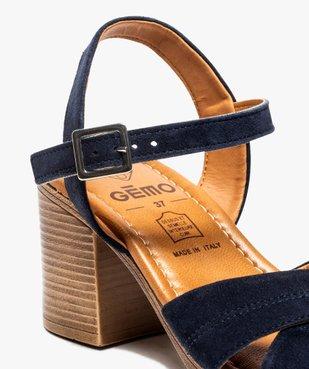 Sandales femme à talon carré coupe spéciale pied large vue6 - GEMO(URBAIN) - GEMO
