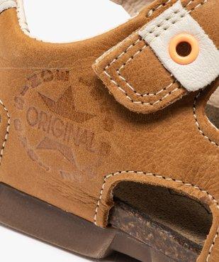 Sandales garçon tout terrain en cuir à scratchs - Bopy vue6 - BOPY - Nikesneakers