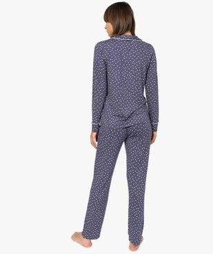 Pyjama femme deux pièces : chemise et pantalon vue3 - GEMO(HOMWR FEM) - GEMO