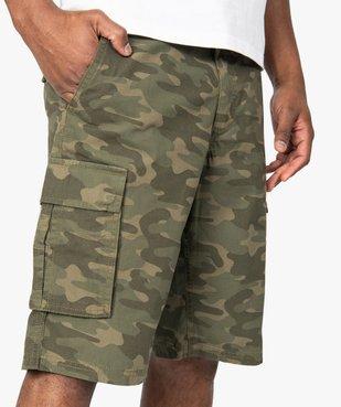 Bermuda homme en toile fine à motif camouflage vue2 - GEMO (HOMME) - GEMO