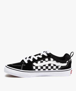 Baskets garçon skateshoes à damier - Vans Filmore Checker vue3 - VANS - Nikesneakers