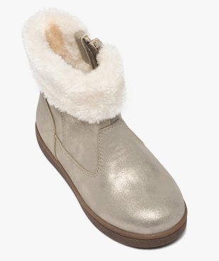 Boots fille à col rembourré en fourrure imitation vue5 - GEMO (ENFANT) - GEMO