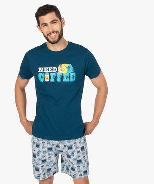 Pyjashort homme avec message – Les Minions 2 vue1 - NBCUNIVERSAL - GEMO