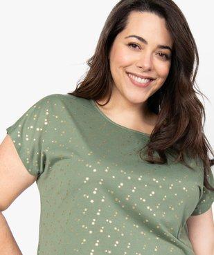 Tee-shirt femme à manches courtes à motifs vue2 - GEMO (G TAILLE) - GEMO