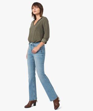 Jean femme coupe Bootcut taille haute vue5 - GEMO(FEMME PAP) - GEMO