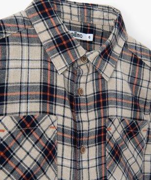 Chemise garçon à carreaux 100% coton vue2 - GEMO (ENFANT) - GEMO
