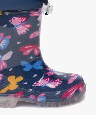 Bottes de pluie fille avec motifs papillon et col ajustable vue6 - GEMO (ENFANT) - GEMO