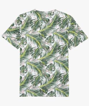 Tee-shirt garçon avec imprimé tropical vue3 - GEMO (JUNIOR) - GEMO