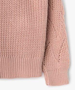 Pull fille en grosse maille à motif brodé vue3 - Nikesneakers (ENFANT) - Nikesneakers