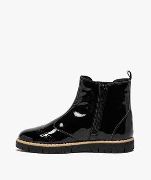 Boots fille chelsea vernies et zippées – LuluCastagnette vue3 - LULU CASTAGNETT - GEMO