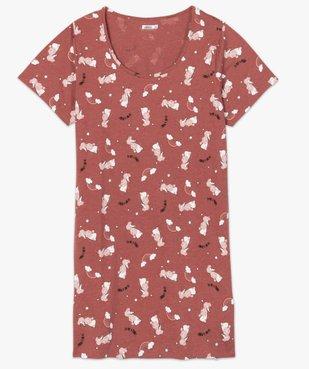 Chemise de nuit femme à manches courtes avec motif vue4 - Nikesneakers(HOMWR FEM) - Nikesneakers