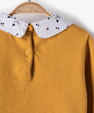 Pull bébé fille effet 2 en 1 avec col et bas chemise vue4 - GEMO(BEBE DEBT) - GEMO