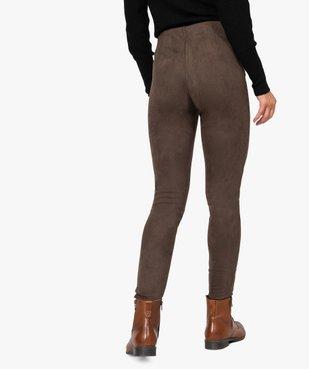 Pantalon femme en velours coupe ajustée vue3 - GEMO(FEMME PAP) - GEMO