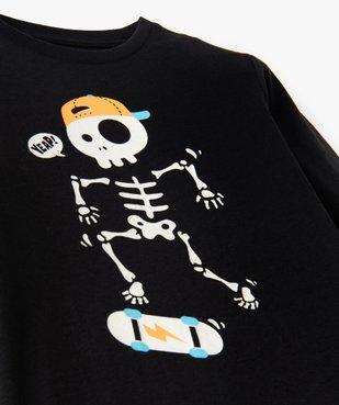 Tee-shirt garçon à manches longues motif squelette phosphorescent vue3 - GEMO (ENFANT) - GEMO