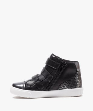Baskets fille mid-cut zippées dessus métallisé - Lulu Castagnette vue3 - LULU CASTAGNETT - Nikesneakers