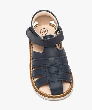 Sandales bébé en cuir à bout fermé et bride scratch vue5 - GEMO(BEBE DEBT) - GEMO